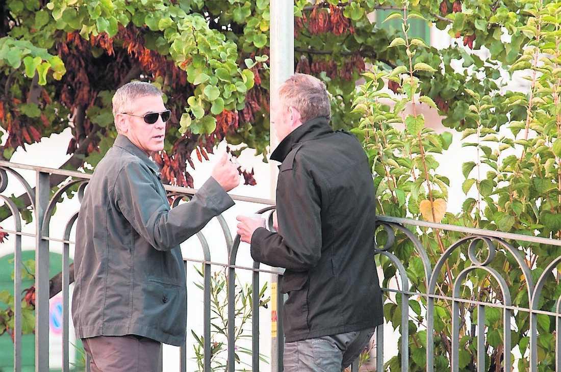 Clooney och regissören Anton Corbijn spelade in i Italien tidigare i höst.
