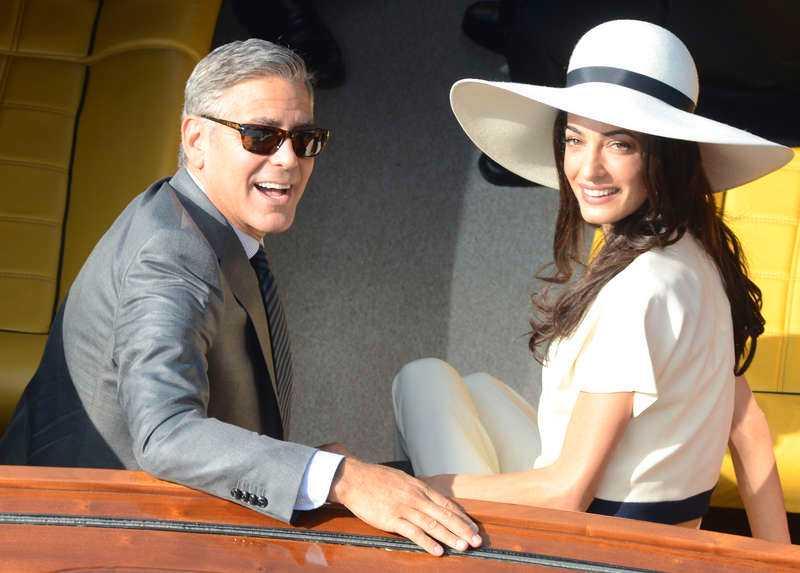 Vännen George Clooney och Amal Alamuddin gifte sig förra året.