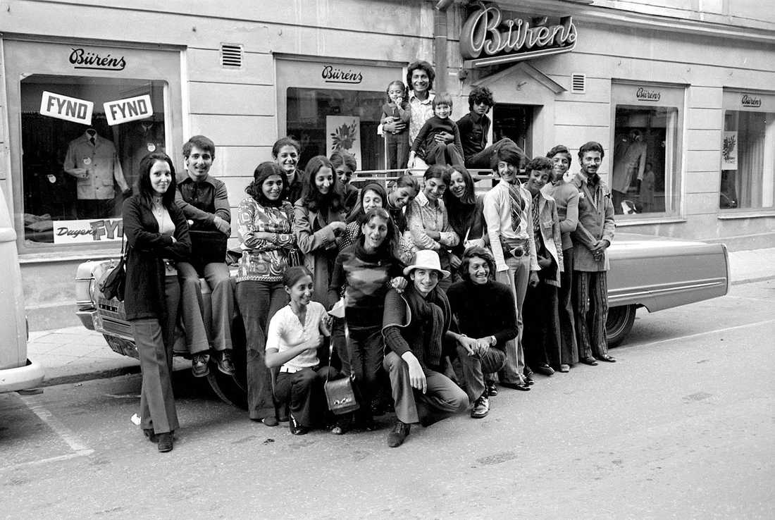 Usama bin Ladins familj på besök i Falun 1971 då hans äldre bror gjorde affärer med Volvo.