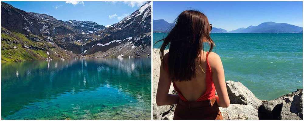 Trollsjön i Abisko har många likheter med Gardasjön.