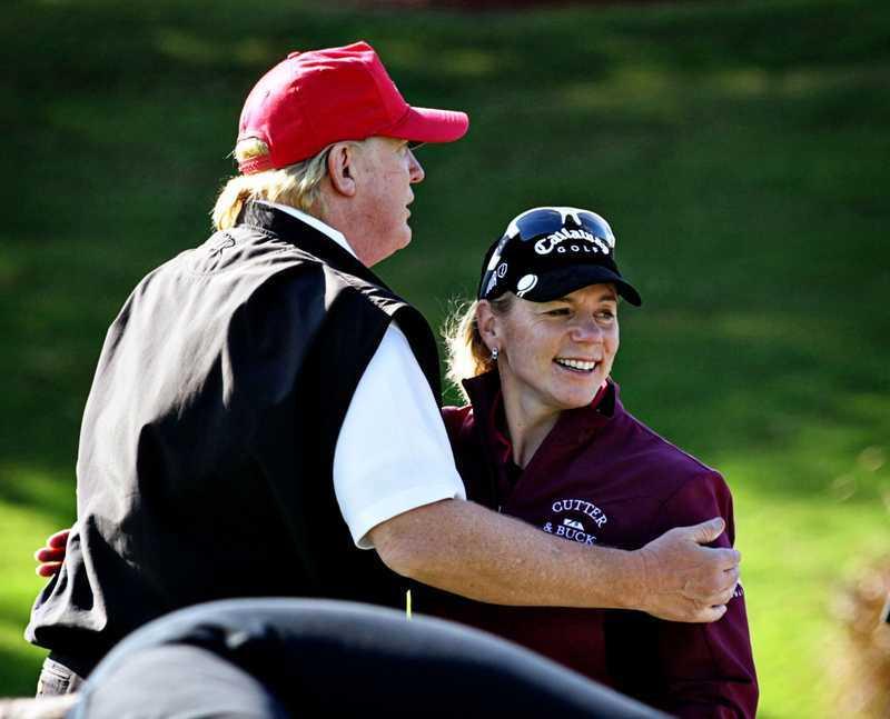 Trump och Sörenstam har tidigare spelat golf tillsammans. Arkivbild.