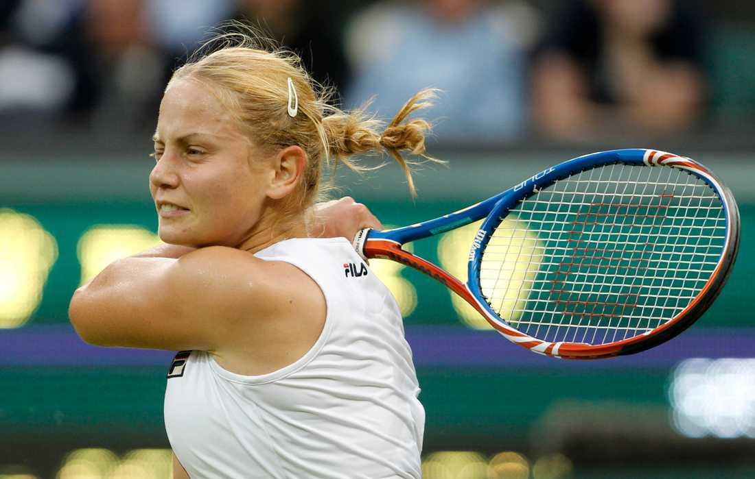 Australiskan Jelena Dokic, född i forna Jugoslavien, i en tennismatch 2011. Arkivbild.