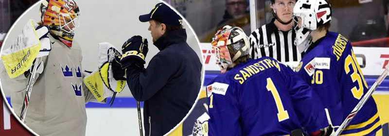 Söderström lämnade isen i slutet av matchen mot Kanada - nu kan Sandström få chansen i kvartsfinalen.