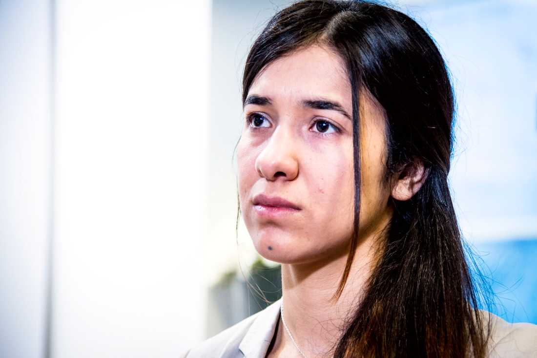 Nadia Murad får Nobels fredspris.