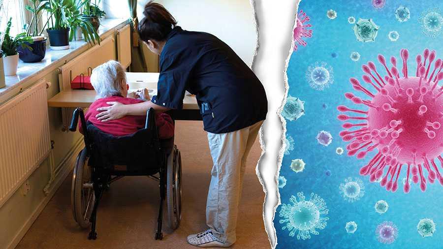 För att minimera antalet smittade inom äldrevården måste strikta dagliga kontrollsystem utvecklas för att hindra personal med lätta förkylningssymtom att ha kontakt med äldre vårdtagare, skriver 14 äldreforskare.