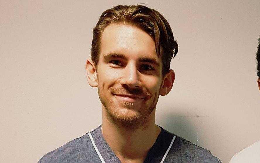 Läkarstudenten Christoffer Hintze, 29.