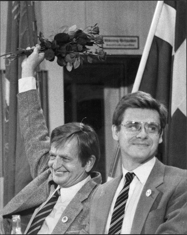 Klas Eklund och Olof Palme. Foto: Thor Lindgren/Arkiv