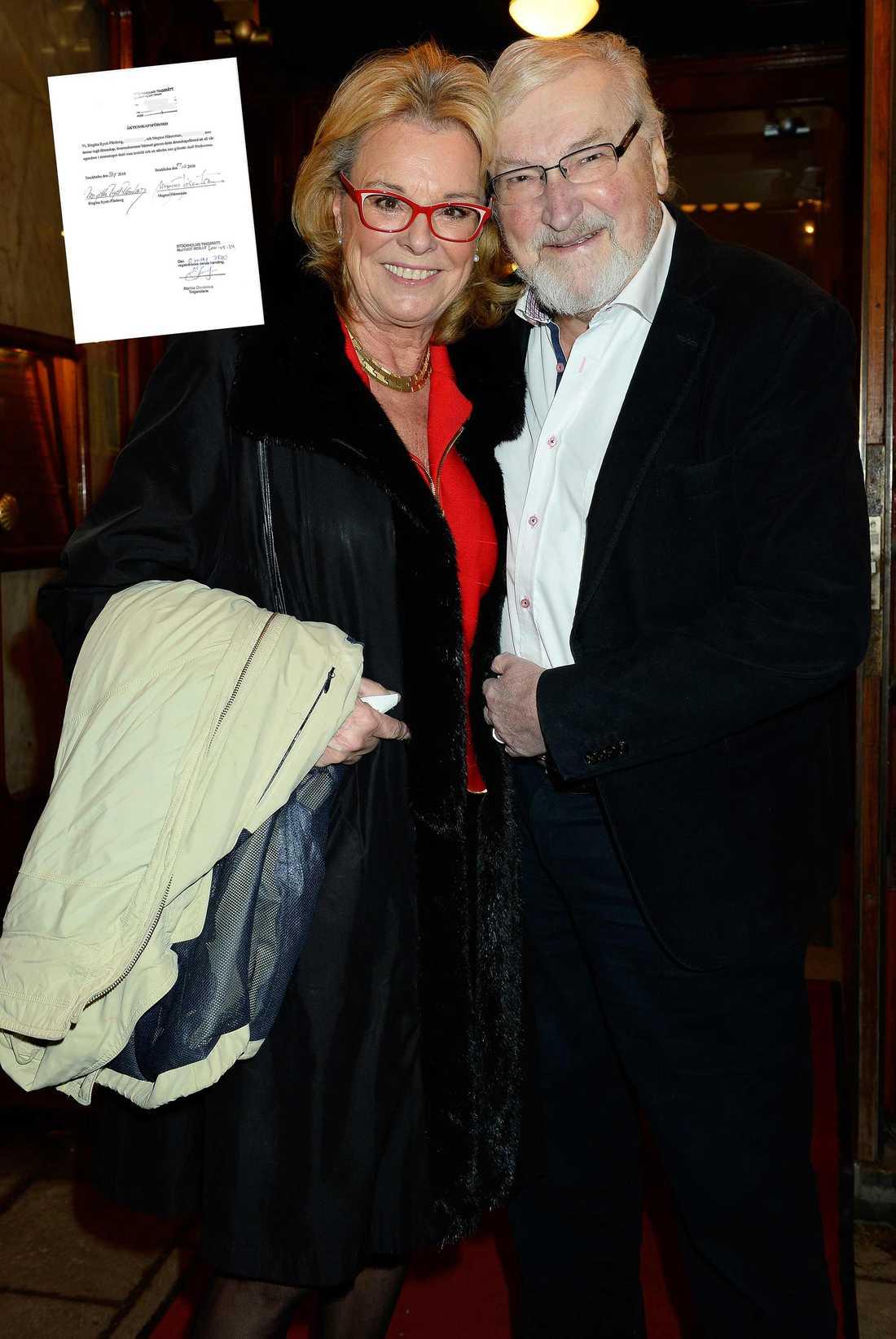 Magnus Härenstam gifte sig med Birgitta 2010, då hade paret redan känt varandra i 30 år. En månad före vigseln ansköte de om äktenskapsförord (infällda dokumentet).