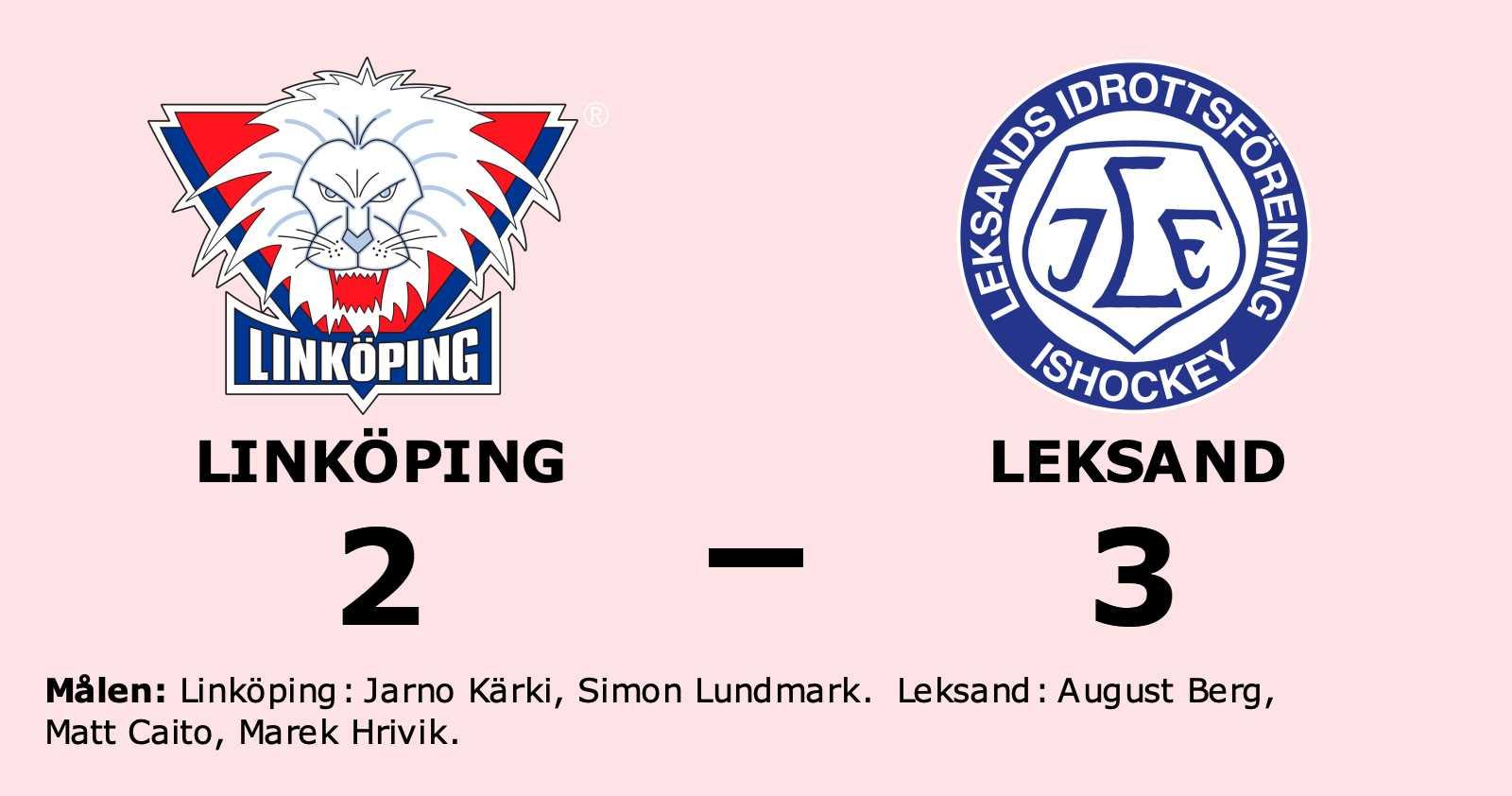 Förlust för Linköping hemma mot Leksand