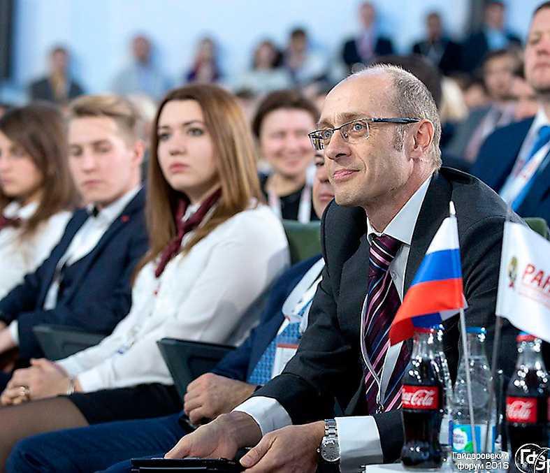 Nyliberalerna Vid Gajdar-forumet i januari samlades ministrar, oligarker och bankchefer. Foto: Gajdar Forum