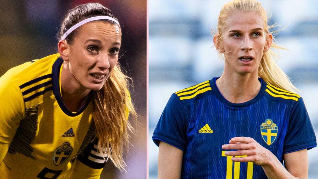 Kosovare Asllani och Sofia Jakobsson spelar tillsammans i CD Tacon, men nu ställs ligan in.