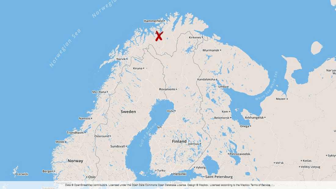 En helikopter har störtat i norra Norge utanför Alta.