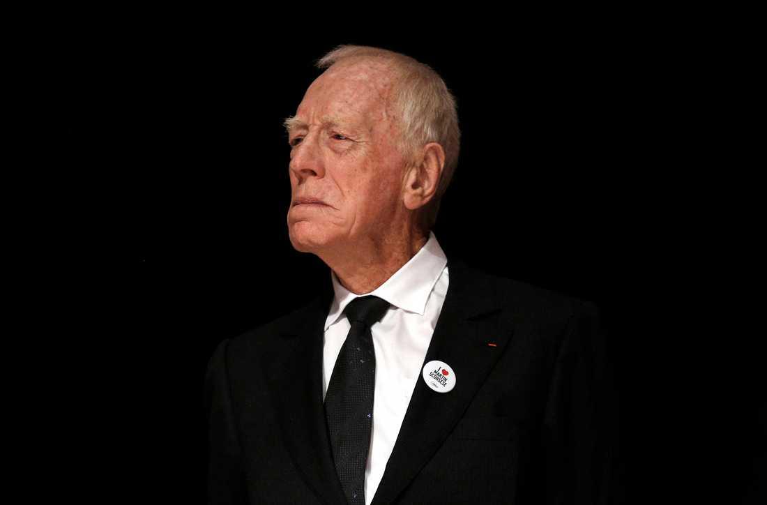 Max von Sydow gick bort i mars 2020 och var en av dem som hedrades under Guldbaggegalan. Arkivbild.