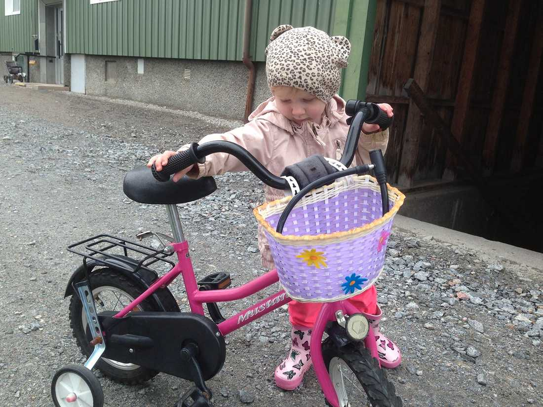 Iries cykel blev stulen.