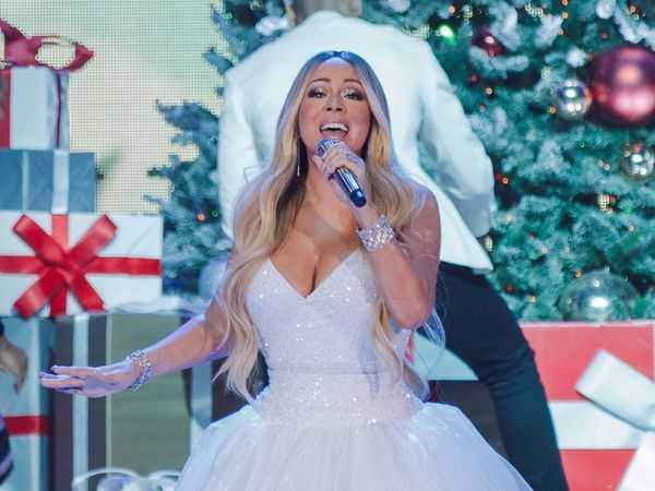 Mariah Carey i sitt sagolika vinterland.