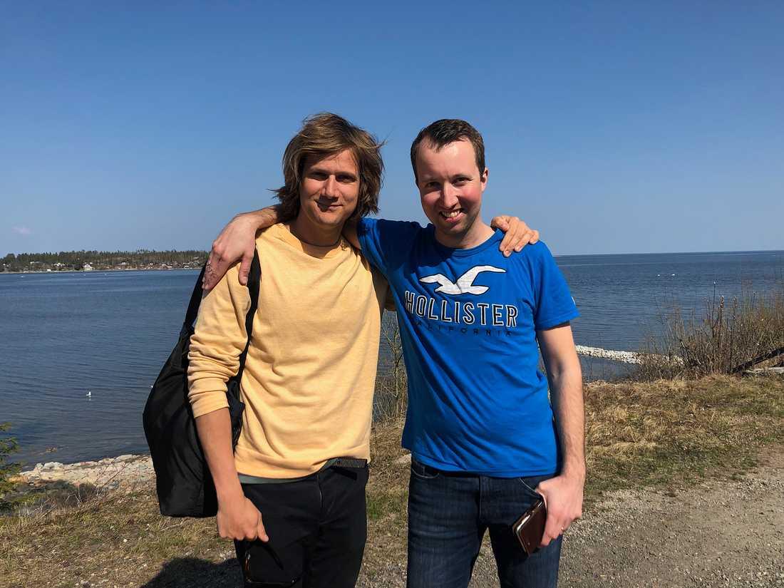 TV4-profilen Matteus Lillieborg och Rikard N Skoglund