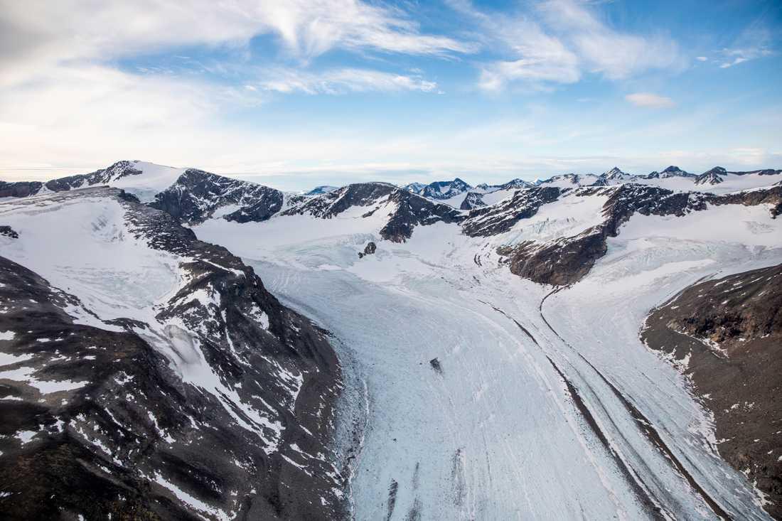 En glaciär i Jotunheimen. Arkivbild.