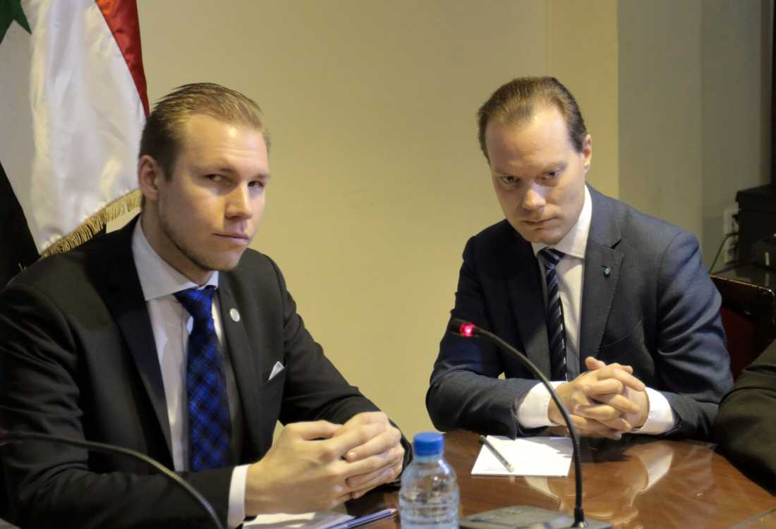 Markus Wiechel och Martin Kinnunen (SD).