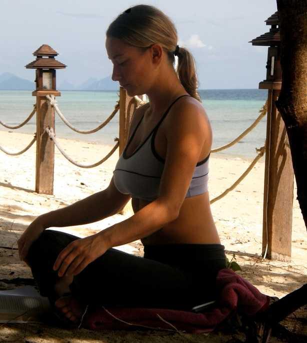 En stunds meditation efter passet.