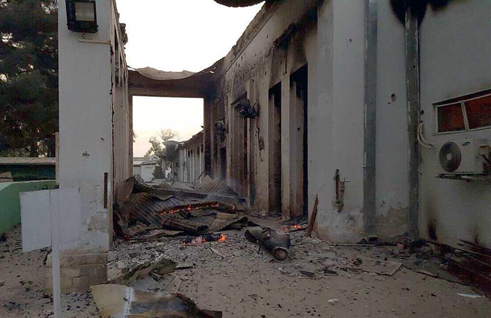 Läkare utan gränsers sjukhus i staden Kunduz,  i norra Afghanistan, träffades av flera bomber.