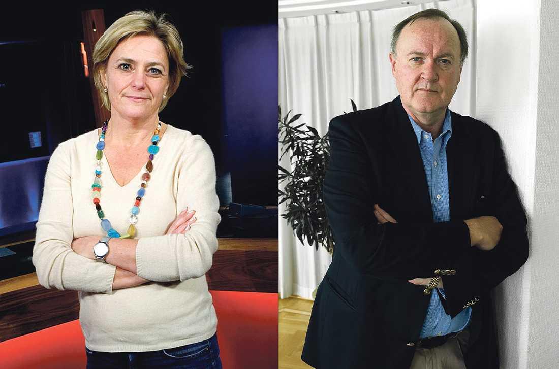 FRI TELEVISION? Våra tv-avgifter ska inte betala Svenskt Näringslivs vd Urban Bäckströms lön – dags för SVT, som leds av vd Eva Hamilton, att lämna arbetsgivarorganisationen, tycker debattörerna.