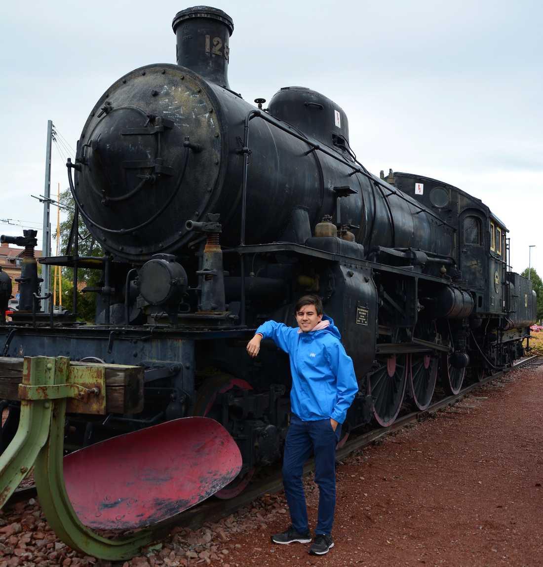 William Nilsson har tyckt om tåg sedan han var liten.
