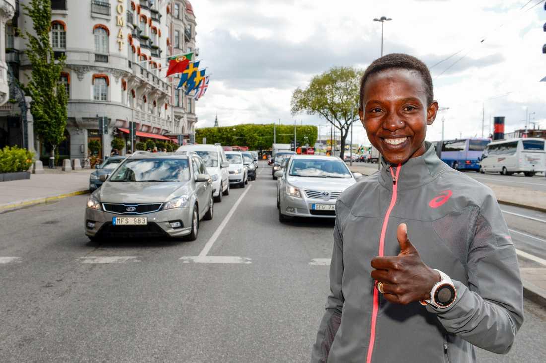 Isabellah Andersson är laddad för Stockholm Marathon.