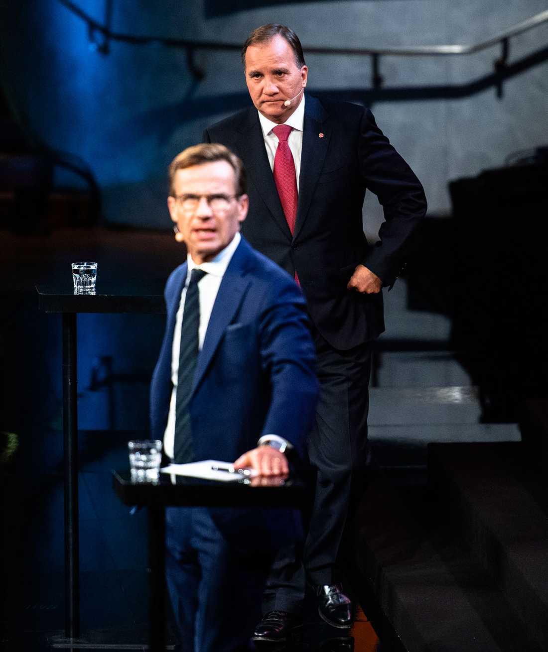 Ulf Kristersson (M) och Stefan Löfven (S).