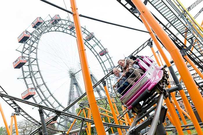 Pariserhjulet är en klassisk attraktion, även i nöjesparken Prater.