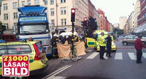 Cyklist Pakord Av Lastbil I Stockholm Aftonbladet