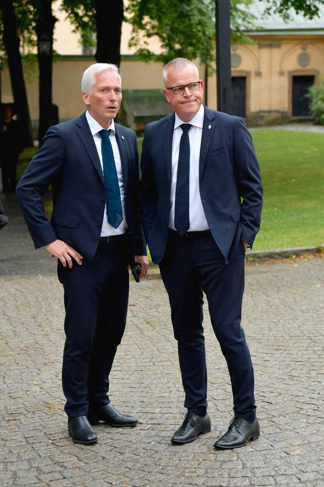 Generalsekreterare Håkan Sjöstrand och förbundskapten Janne Andersson.