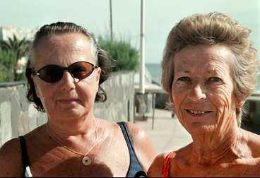 Kerstin Granquist och Margita Åberg.