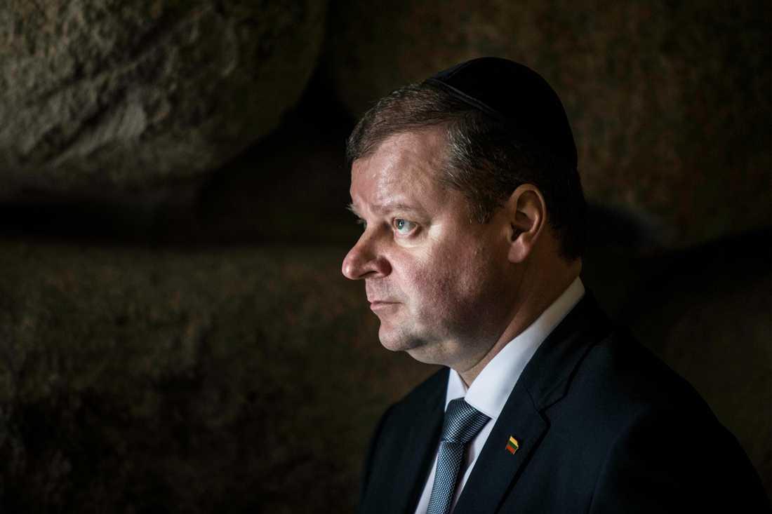 Litauens premiärminister Saulis Skvernelis. Arkivbild.