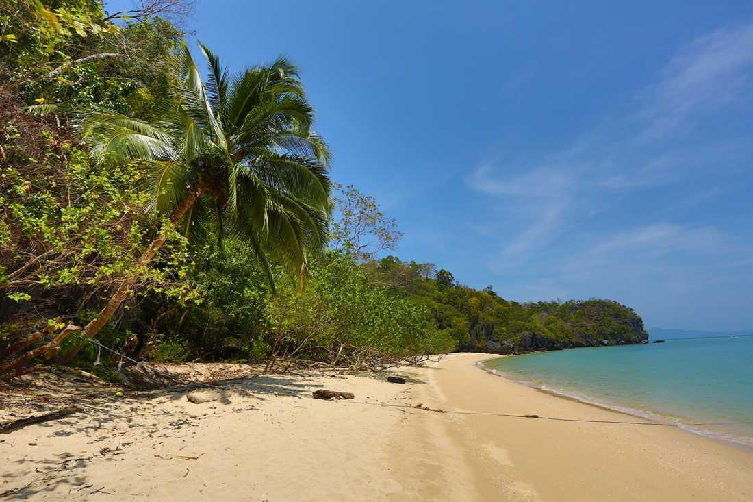 Strand på Langkawi.