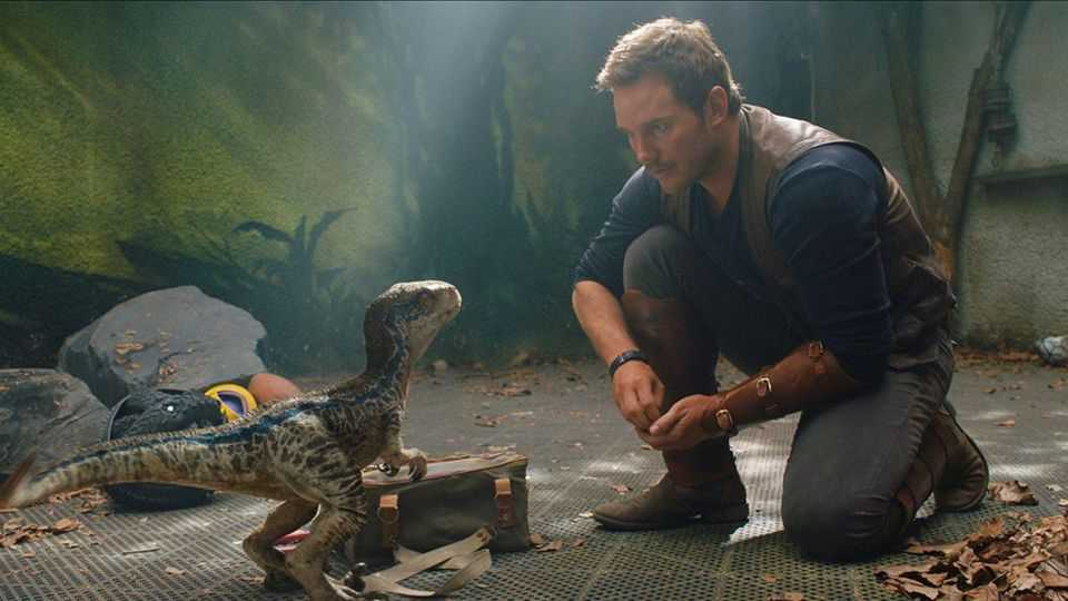 "Chris Pratt i ""Jurassic world: Fallen kingdom"" (2018)."