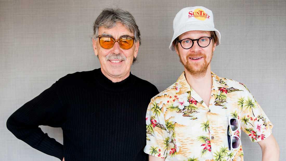 """Anders """"Ankan"""" Johansson (till höger) blir nya Vanheden i Jönssonligan. Han har tidigare bland annat spelat Stig-Helmer i musikaluppsättningen av Lasse Åbergs """"Sällskapsresan""""."""