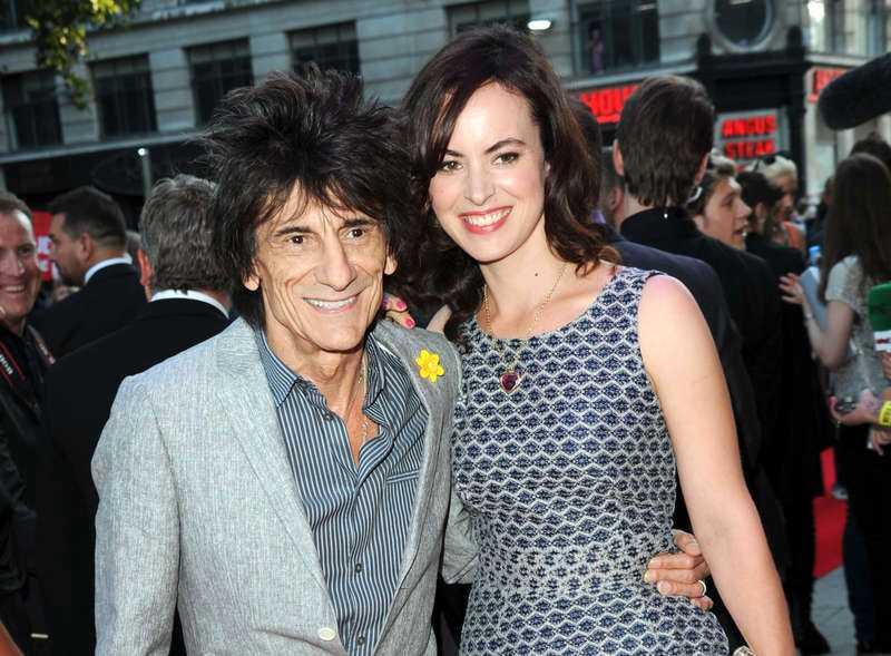 Ett tag sedan tonåren Rolling Stones-gitarristen Ronnie Wood och hans 30 år yngre hustru Sally.