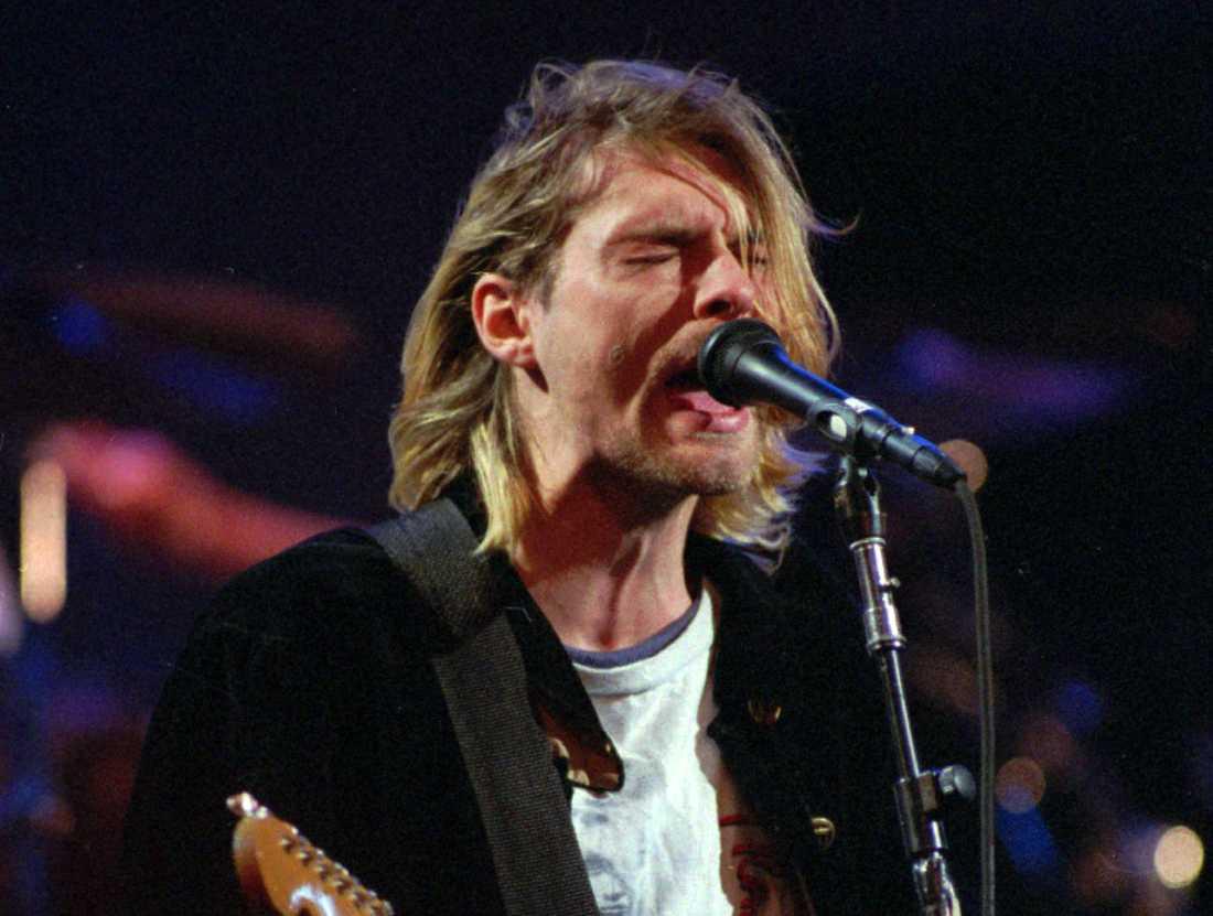 Kurt Cobain på scen i Seattle 1993.