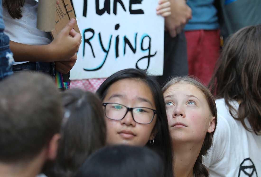 Klimataktivisten Greta Thunberg fortsätter sina manifestationer för klimatet på andra sidan Atlanten.