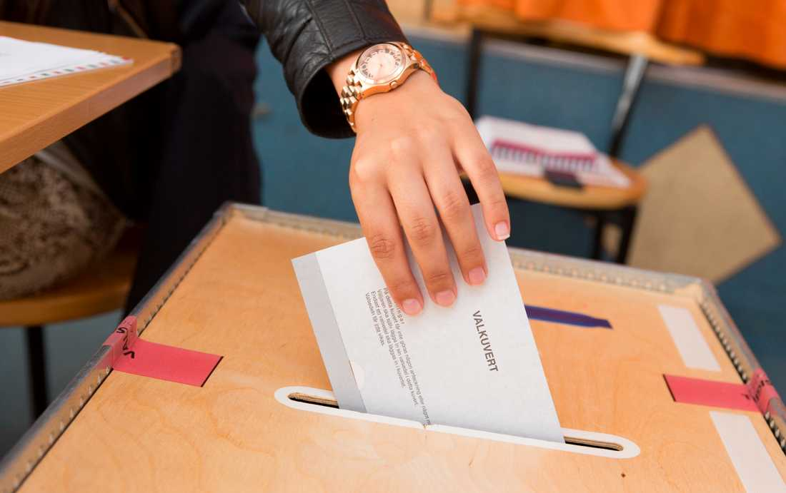Arkivbild. Röstning i EU-val.