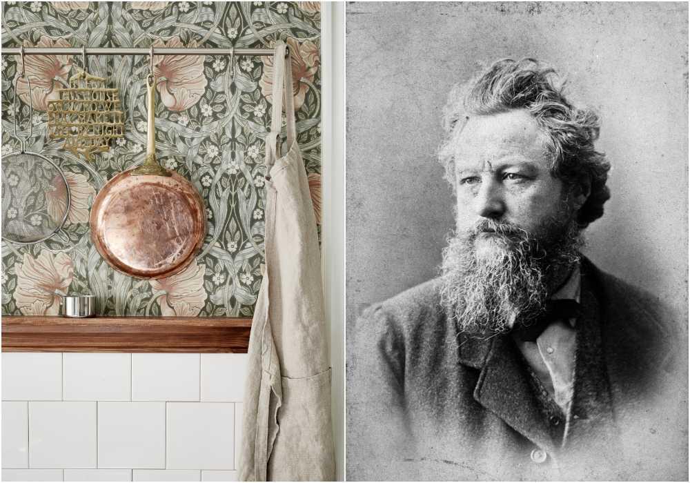 William Morris föddes 1834 och skapade hundratals mönster som är aktuella än idag.