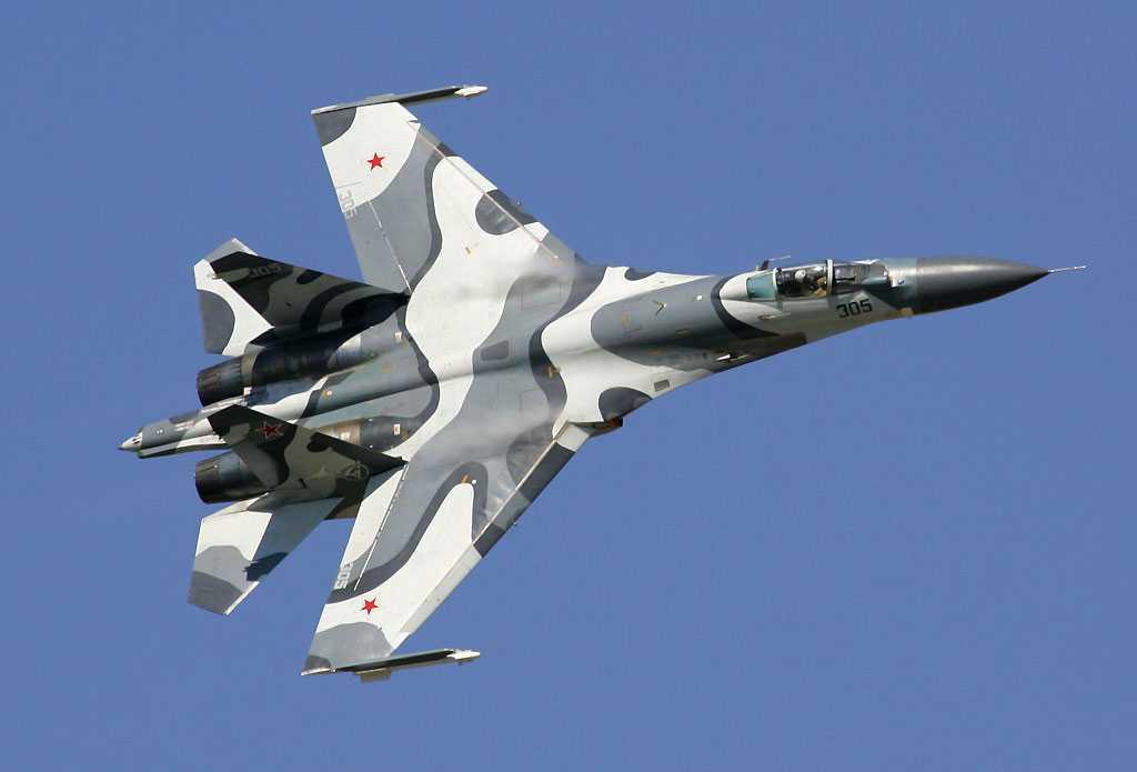 En rysk Sukhoi-27.