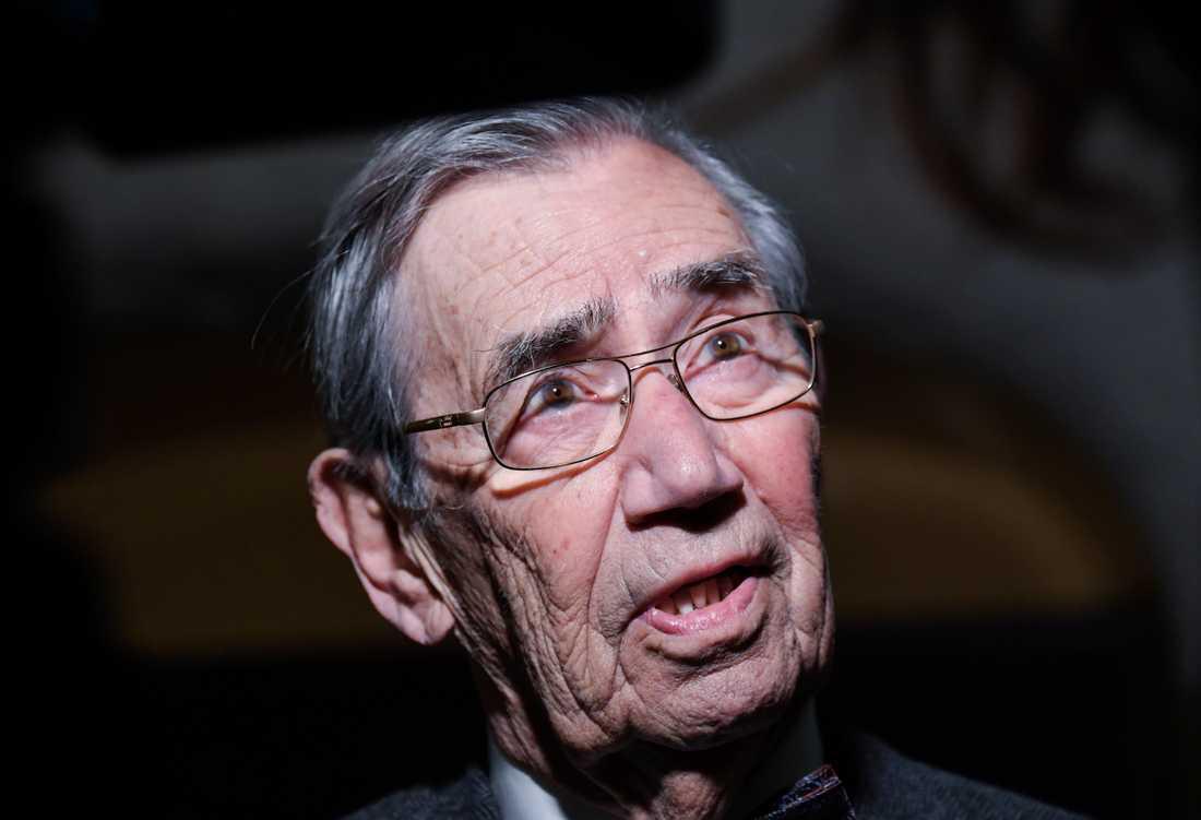 Emerich Roth, svensk-tjeckisk författare som överlevt fem koncentrationsläger. Arkivbild.