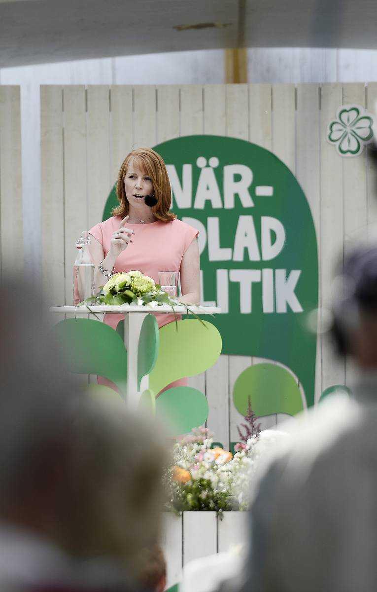 Annie Lööf under sitt tal i Almedalen.