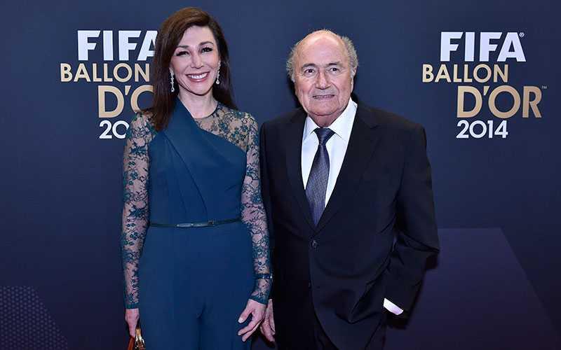 Fifa-presidenten Sepp Blatter och Linda Barras.