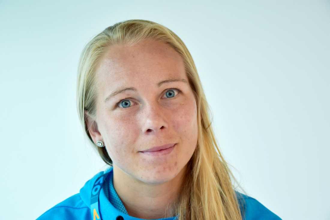 Johanna Larsson under Australian Open i Mebourne.