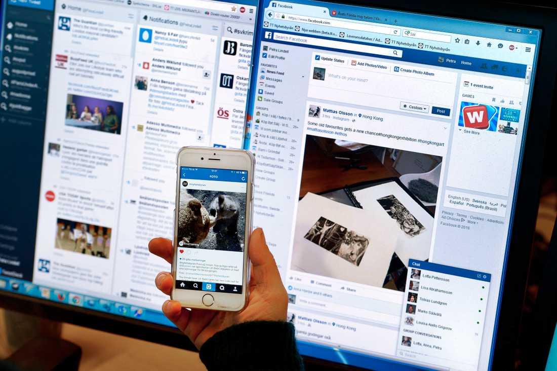 Unga avskräcks från att använda sociala medier på grund av det hårda debattklimatet. Arkivbild.