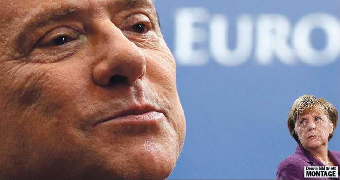 tyskland på tvären Efter otaliga skandaler blev det till sist Italiens skuldkris som fick Berlusconi på fall. Landet – och euron – skulle kunna räddas av den europeiska centralbanken, men Angela Merkels inflationsrädsla sätter käppar i hjulet.