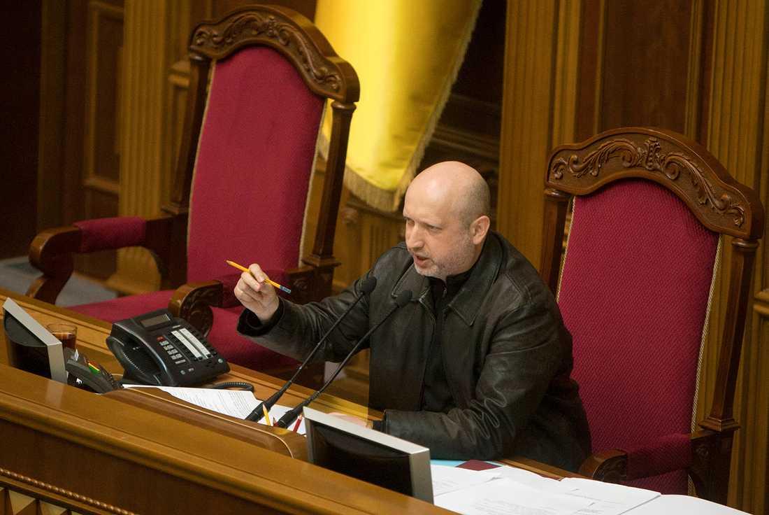 NY TALMAN Oleksandr Turtjynov, som beskrivs somJulia Tymosjenkos högra hand, är utsedd till ny talman i parlamentet.