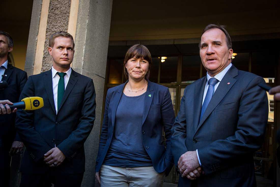 Löfven meddelade på måndagen att han tänker bilda regering med Miljöpartiet.